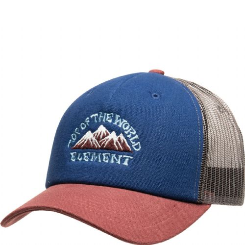 ELEMENT MENS CAP.ICON MESH TOP OF THE WORLD BASEBALL CURVED PEAK TRUCKER HAT S20